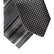 Thomas Nash - Pack of two silver stripe spot ties