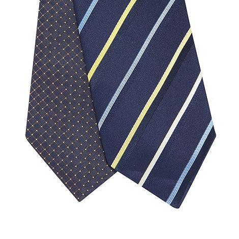 Thomas Nash - Pack of two yellow stripe ties