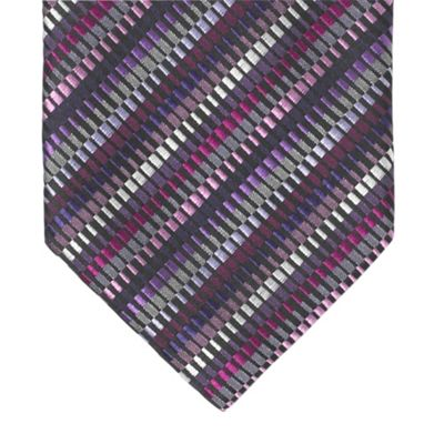 Purple Multi Corrugated Silk Tie