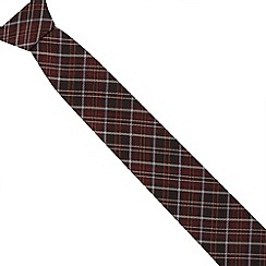 Jeff Banks Brit - Designer wine checked slim tie