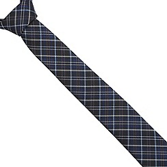 Jeff Banks Brit - Designer navy checked slim tie