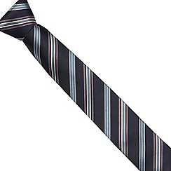 Jeff Banks - Navy collegiate striped slim tie