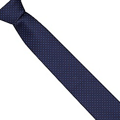 Red Herring - Dark blue polka dot tie