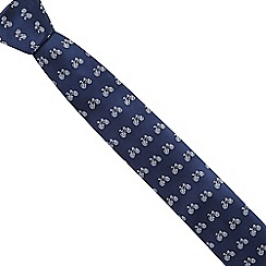Red Herring - Navy bicycle patterned slim tie