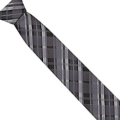 Red Herring - Grey tartan striped slim tie