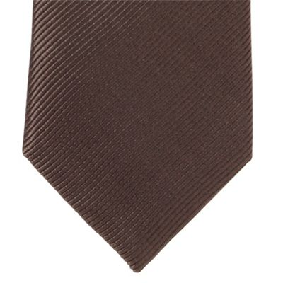 Black Ridded Silk Tie