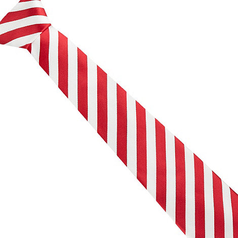 J by Jasper Conran - Designer red breton textured stripe tie