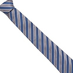 Jeff Banks - Designer navy two tone striped silk tie