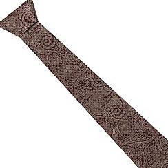 Jeff Banks - Designer pink metallic paisley printed silk tie