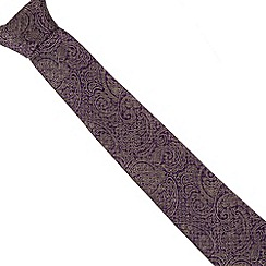 Jeff Banks - Designer purple silk paisley tie