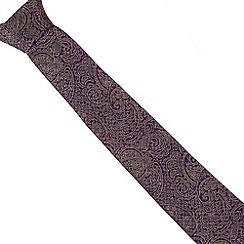 Jeff Banks - Designer purple silk paisley tie