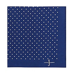 J by Jasper Conran - Designer navy pin dot silk pocket square