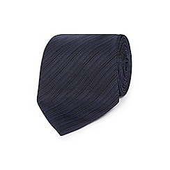 J by Jasper Conran - Designer navy fine striped silk tie