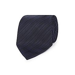J by Jasper Conran - Designer navy fine striped silk tie