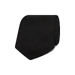 J by Jasper Conran - Designer black fine striped silk tie