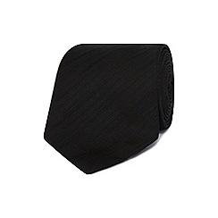 J by Jasper Conran - Designer black fine striped silk tie
