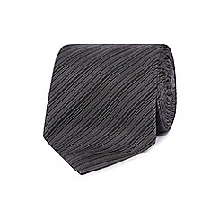 J by Jasper Conran - Designer grey fine striped silk tie