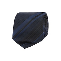 J by Jasper Conran - Designer navy tonal striped silk tie