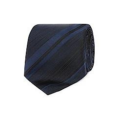 J by Jasper Conran - Designer navy tonal striped silk tie