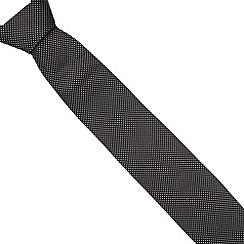 J by Jasper Conran - Designer black stitched squares silk tie
