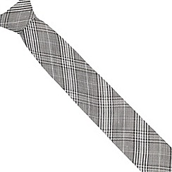 J by Jasper Conran - Designer grey checked silk blend tie