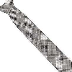 J by Jasper Conran - Designer grey checked silk blend tie