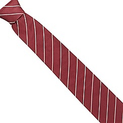 Osborne - Dark red fine striped silk tie