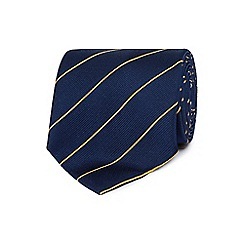 Osborne - Navy fine striped silk tie