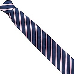 Osborne - Pink ribbon striped silk tie