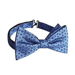 Hammond & Co. by Patrick Grant - Designer blue astrology sign silk bow tie