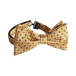Hammond & Co. by Patrick Grant - Designer dark yellow geometric spot silk bow tie