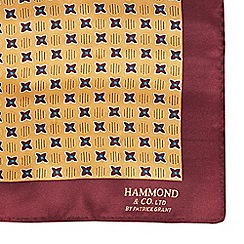 Hammond & Co. by Patrick Grant - Designer mustard silk pocket square