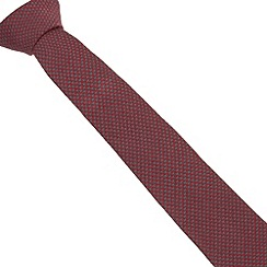 Hammond & Co. by Patrick Grant - Designer red dogtooth knit tie