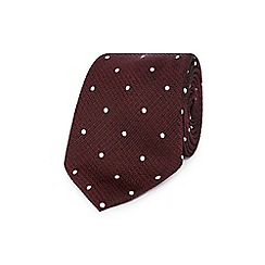 Hammond & Co. by Patrick Grant - Designer wine polka dot silk tie