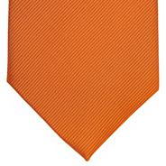 Orange silk textured tie