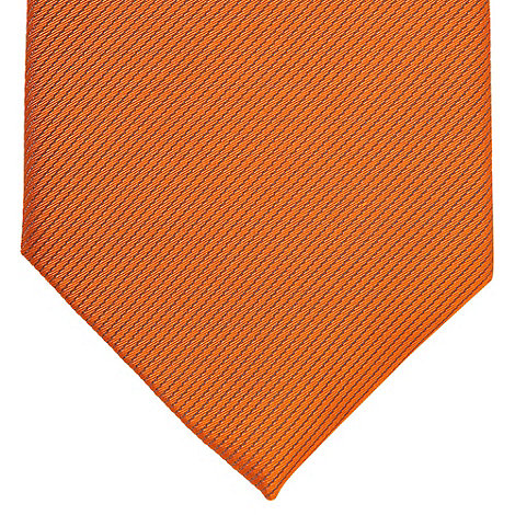 Thomas Nash - Orange silk textured tie