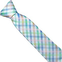 Thomas Nash - Blue checked tie