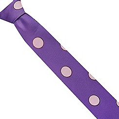 Thomas Nash - Purple large spotty ribbed tie