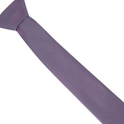 Thomas Nash - Light purple plain slim tie