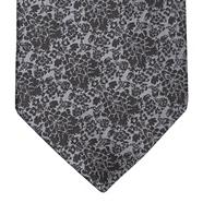Dark grey damask wedding tie