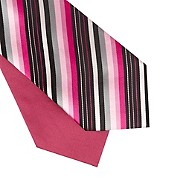 Thomas nash Bright pink striped and plain tie set