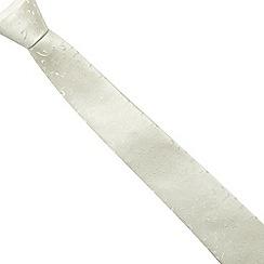 Black Tie - Ivory twill jacquard tie