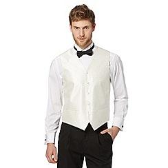 Black Tie - Ivory twill jacquard waistcoat