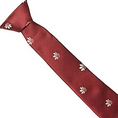 Jeff Banks Brit - Designer wine lily flower tie