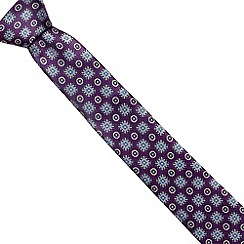 Jeff Banks Brit - Designer blue checked slim tie