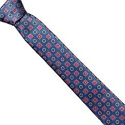 Jeff Banks Brit - Designer light blue abstract floral slim tie