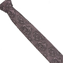 Jeff Banks Brit - Designer pink muted floral tie