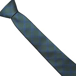 Jeff Banks - Designer green check tie