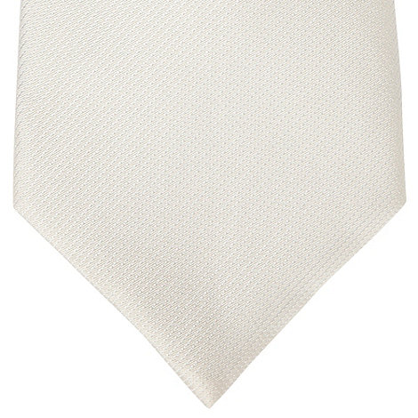 Thomas Nash - Ivory textured silk tie
