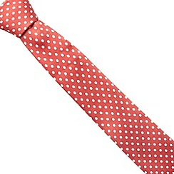 Red Herring - Red slim spotted tie